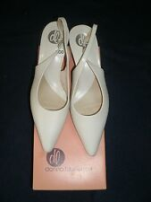 DONNA  LAWRENCE  Women's  Cream Slingbacks  Kitten Heel  Dress Shoes 6.5 NEW