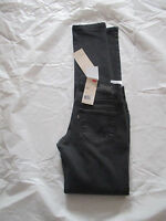 NWT Levis 524 Jeans Skinny Leg Ultra Low Black Destroyed 11507029