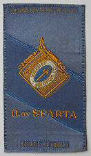 ORDER of SPARTA Woven Silk issued in 1910
