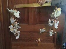 Vintage Wood and Felt Christmas Decoration Angel Hanging Mobile