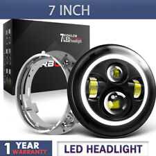 60W 7 inch Round LED Headlight Halo Hi-lo fit for Harley Davidson Motorcycle