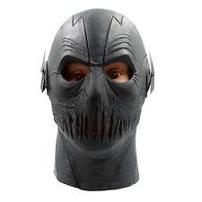 Halloween Full Head Latex Party Masks The Flash Allen Cosplay Black Helmet Mask