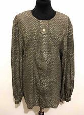 LUISA SPAGNOLI VINTAGE '80 Camicia Donna Jersey Blusa Woman Shirt Sz.XL - 48