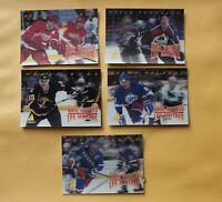 1995-96 McDonald's Pinnacle Selanne/ Bure/ Messier a Lot of 5 Cards