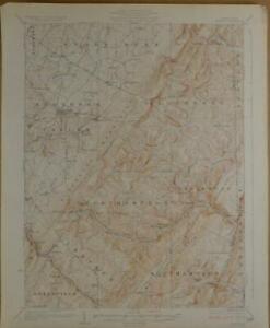 Berlin Pennsylvania Antique USGS Topographic Map Printed 1929 16x20 Art