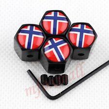 Antitheft Style Car Vehicle Wheel Rim Tire Tyre Valve Stem Cap Norway Flag Badge