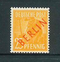 Berlin Rotaufdruck - Michel-Nr. 27 ** Aufdruck Falsch - geprüft Schlegel BPP