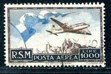 SAN MARINO 1951 462 gestempelt SPITZENWERT FLUGPOST 400€(S2261