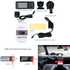 Dual Camera Cycle Record Screen Car GPS Logger HD Video Recorder Dash Cam 1080P