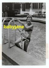 HAYLEY MILLS ORIGINAL 6X9 PHOTO PINUP CANDID IN BIKINI COMING OUT OF POOL 1966
