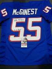 Willie McGinest New England Patriots Autographed INSCIB Custom Jersey W-Coa JSA-