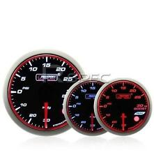 Prosport 52mm Turbo Boost Gauge PSI Smoked Stepper WRC Style