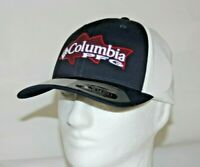 Columbia PFG Signature Striper Flexfit 110 Ball Cap Hat Adjustable in Navy OSFA