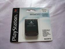 SONY PlayStation 1 Smoke Gray Memory Card PS1 NEW