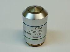 Leica HCX PL Fluotar 40X/0.75 ∞/0.17/D PH 2 Microscope Objective; PN 506145