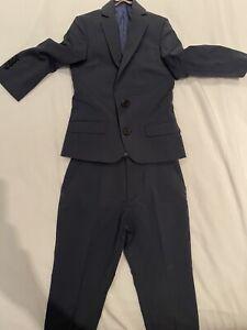 River Island Boys Navy Blue Suit   Never Worn   Age 3 - super Cute!!!