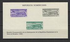 Rép. DOMINICANA 1958 expo de Bruxelles feuillets timbres neufs /B5Bar2