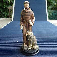 Saint François d'Assise Superbes Reliefs & Détails 13,5 x 5,5 Cms 156 Grs Collec