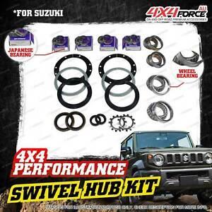 Swivel Hub JP King Pin + Wheel Bearing Seal Kit for Suzuki Jimny FJ SN413 1.3L
