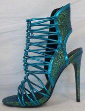 Keyshia Cole Steve Madden 8 M Movit Teal Open Toe Heels New Womens Shoes NWOB