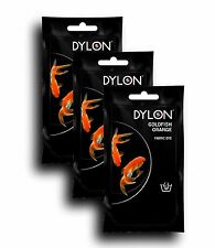 DYLON Goldfish Orange Hand Fabric Dye 3 Pack