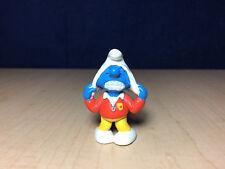 Smurfs 20529 Trainer Smurf Soccer Team Vintage Figure Sports PVC Toy Figurine