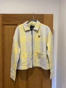 BNWT Women's Lyle & Scott Check Cloud yellow Grey Jacket Size M RRP £85