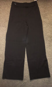 Woman's Talbots Brown Pant  ~ Size 14 ~ New With Tags ~ Large Front Buttons