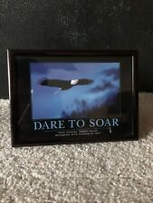 East Urban Home 'Dare to Soar Eagle' Motivational Photographic Print Metal Frame