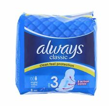 Always Classic Size 3 Night Pads with Wings 8pk x 3 Multi Buy