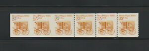 US EFO, ERROR Stamps: #2136a Bread Wagon. Imperf to Perf transition strip! MNH
