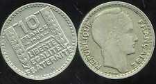 10 francs TURIN  1946B   grosse tete  rameaux courts