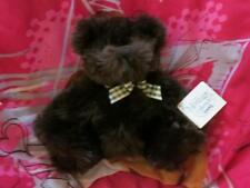 GOLDEN BROWN GUND TEDDY BEAR PALS 41280 CUDDLY PLUSH BEAR 41280 FLANNEL SCARF