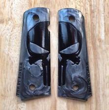 Punisher Style Full SZ Resin Black Pearl for Colt 1911 Grips Gun Kimber Clones