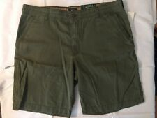 GH Bass & Co. Men's Olive Green Canvas Terrain Shorts, Relaxed Fit, Size 42
