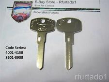 Key Blank fits Vintage Datsun Nissan - 1966 to 1970  (DT12) See Code Series