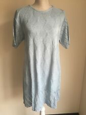NEW Definitions Women Dress Tunic Knitted Blue Thigh Length Casual Plus Size 16