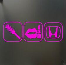 "brush makeup girl lipstick sticker ""H"" Funny JDM race car window pink decal"