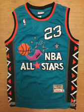 #23 Michael Jordan 1996 All Star Teal Throwback Vintage Basketball Men's Jersey