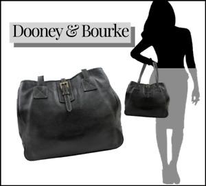 DOONEY & BOURKE DERBY SUPPLE BLACK PEBBLED LEATHER X LARGE SHOPPER TOTE