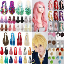 Women Long Hair Full Wig Curly Wavy Straight Hair Wigs Party Costume Cosplay