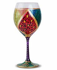 Carnival festival purple non-lead crystal wine glasses (set of 4)