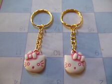 "Hello Kitty """" Pink / Gold """" Keychain Ring** Lot-of-2** Free Shipping"