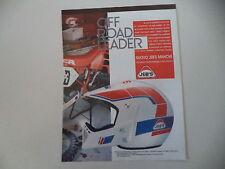 advertising Pubblicità 1989 CASCO HELMET JEB'S MANCHE