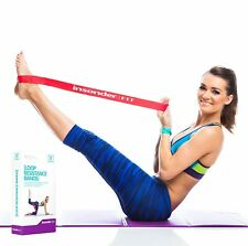 Loop Resistance Bands Stretch Latex Exercise Pilates Workout Legs Butt P90X 5pk