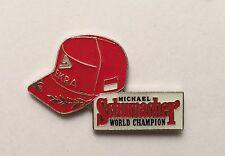 PIN'S PIN CASQUETTE CAP F1 FORMULE 1 SCHUMACHER WORLD CHAMPION FERRARI DEKRA