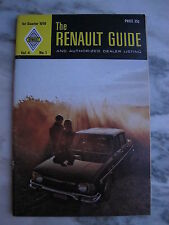 1970 RENAULT GUIDE Vol 4 No 1 1st Quarter Renault 10 Sierra Renault 16 Wagon