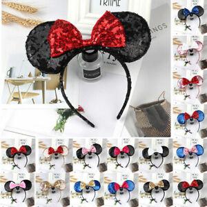Disney Parks Minnie Headband Mouse Multiple Sequin Ears Bow Fancy Party Dress