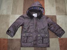 Kid's (3-4 yrs) Burgundy Deer Stalker Style Coat by Matalan w. Detachable Hood