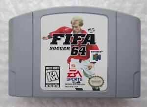 GREAT SHAPE - FIFA Soccer Nintendo 64 N64 Retro Video Game Cart Authentic Kids